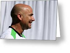 Agassi Smile Greeting Card by Anne Babineau
