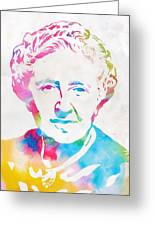 Agatha Christie Watercolor Tribute Greeting Card