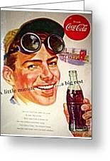 Aged Coca Cola Ad Greeting Card