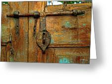 Aged Latch Greeting Card