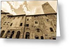 Aged San Gimignano Greeting Card