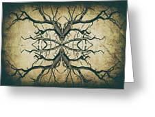 Aged Sepia Tree Dual Greeting Card