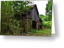 Aged Wood Barn Greeting Card