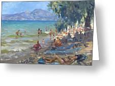 Agrilesa Beach Athens  Greeting Card