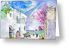 Agua Amarga 06 Greeting Card by Miki De Goodaboom