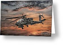Ah-64 Apache Attack Helicopter Greeting Card