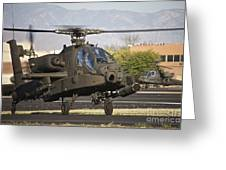 Ah-64d Apache Longbow Taxiing Greeting Card