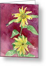 Ah Sunflowers Greeting Card