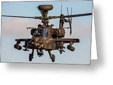 Ah64 Apache Flying Greeting Card by Ken Brannen
