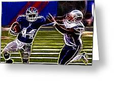 Ahmad Bradshaw Greeting Card by Paul Ward