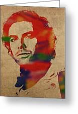 Aidan Turner As Poldark Watercolor Portrait Greeting Card