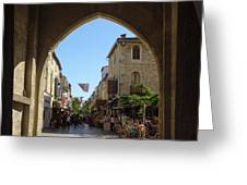 Aigues Morte Entry Greeting Card