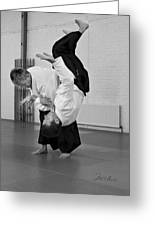 Aikido Up And Down Greeting Card