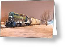 Aikr Gp30 In Snow Greeting Card