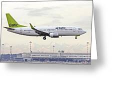Air Baltic Boeing 737-300 Greeting Card