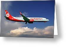 Air Berlin Boeing 737-800 Greeting Card