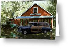 Air Brushed Woody At Country Store Greeting Card