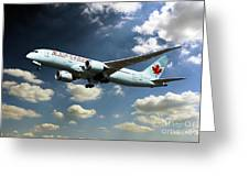 Air Canada 787 Dreamliner Greeting Card