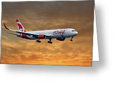 Air Canada Rouge Boeing 767-333 2 Greeting Card