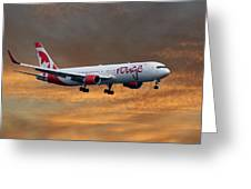 Air Canada Rouge Boeing 767-333 3 Greeting Card