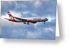 Air Canada Rouge Boeing 767-35h 118 Greeting Card