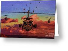 Air Cavalry Bell Uh-1 Huey  Greeting Card
