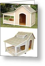 Air Conditioned Dog Houses Greeting Card