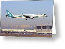 Air Dolomiti, Embraer Erj-195 Greeting Card