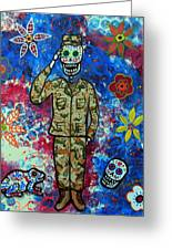 Air Force Day Of The Dead Greeting Card