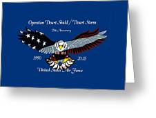 Air Force Desert Storm Greeting Card