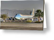 Air Force One In Palm Springs Greeting Card
