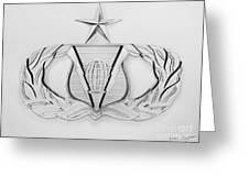 Air Force Specialty Badge Greeting Card