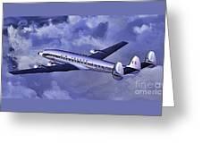 Air France Connie Greeting Card