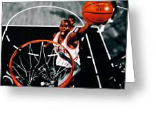 Air Jordan Above The Rim Greeting Card