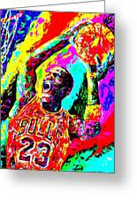 Air Jordan Greeting Card by Mike OBrien