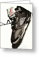 Air Jordan Greeting Card by Robert Morin