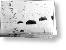 Airborne Mission During Ww2  Greeting Card