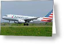 Airbus A319 Greeting Card
