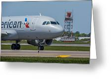 Airbus A319  On Taxi Greeting Card