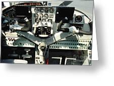 Aircraft Airplane Control Panel Greeting Card