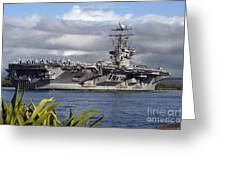 Aircraft Carrier Uss Abraham Lincoln Greeting Card