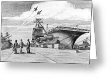 Aircraft Carrier Greeting Card