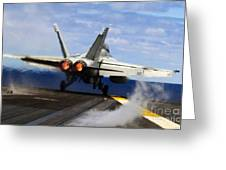 aircraft military F 18 Hornet Greeting Card