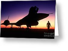 Aircraft Silhouette Greeting Card