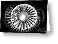 Aircraft Turbofan Engine Greeting Card