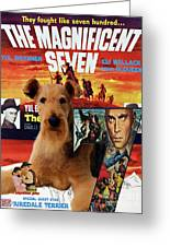 Airedale Terrier Art Canvas Print - The Magnificent Seven Movie Poster Greeting Card