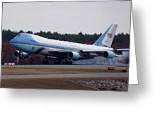 Airforce One Greeting Card