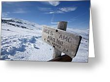 Airline Trail - White Mountains New Hampshire Greeting Card