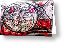 Airplane Grafitti Greeting Card