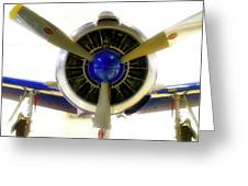 Airplane Propeller And Engine T28 Trojan 01 Greeting Card